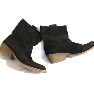 Black Rampage Ankle Boots